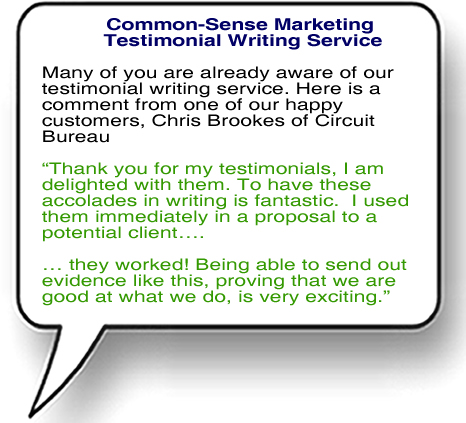 Testimonial Writing Service